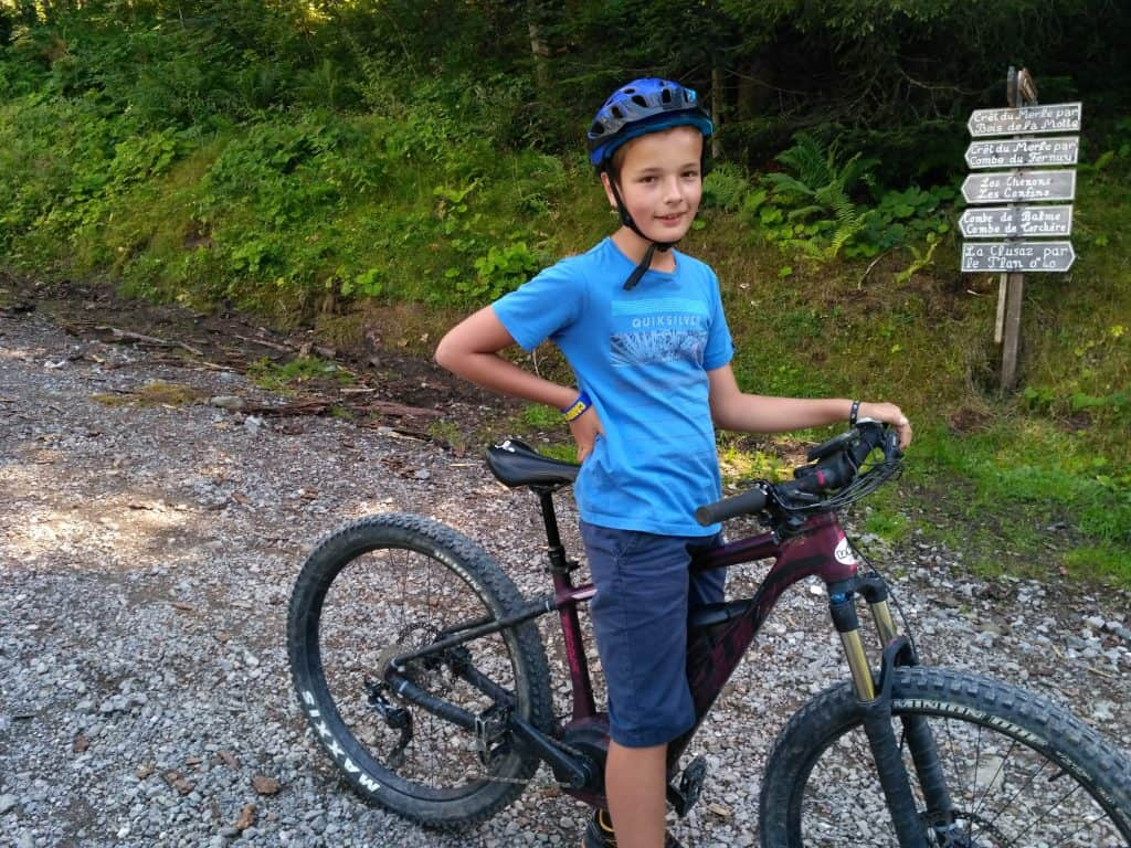 Easy E-Biking - my son on a mountain e-bike, helping to make electric biking practical and fun