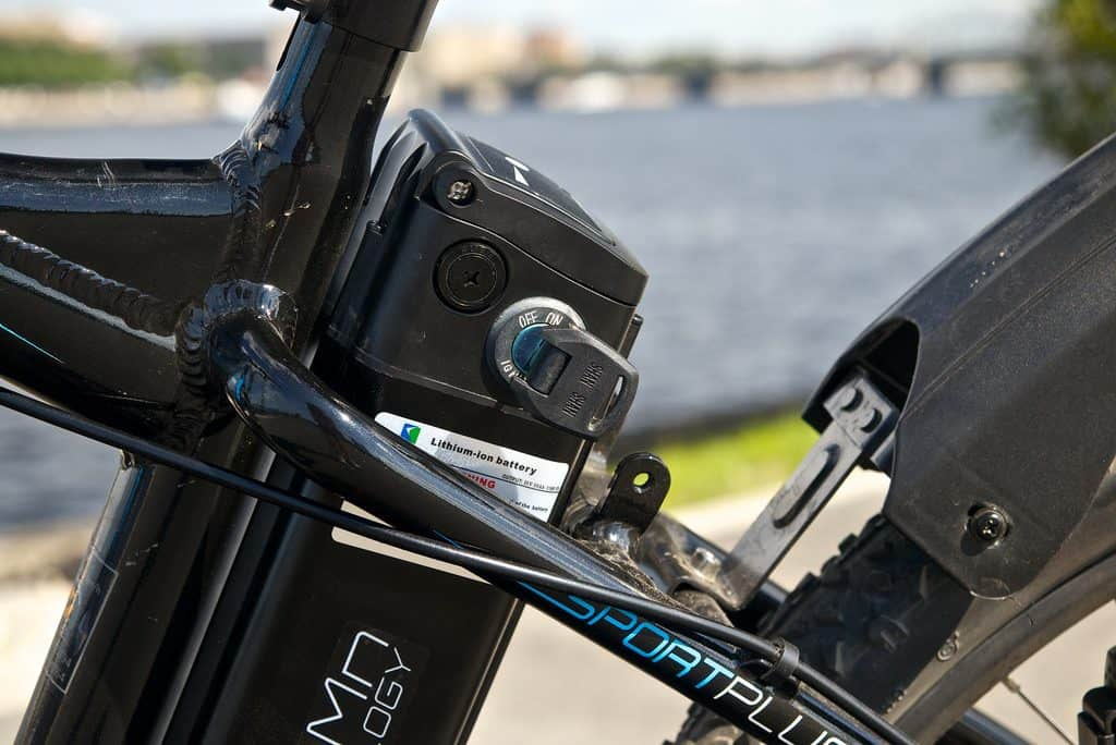Easy E-Biking - e-bike battery close shot, helping to make electric biking practical and fun