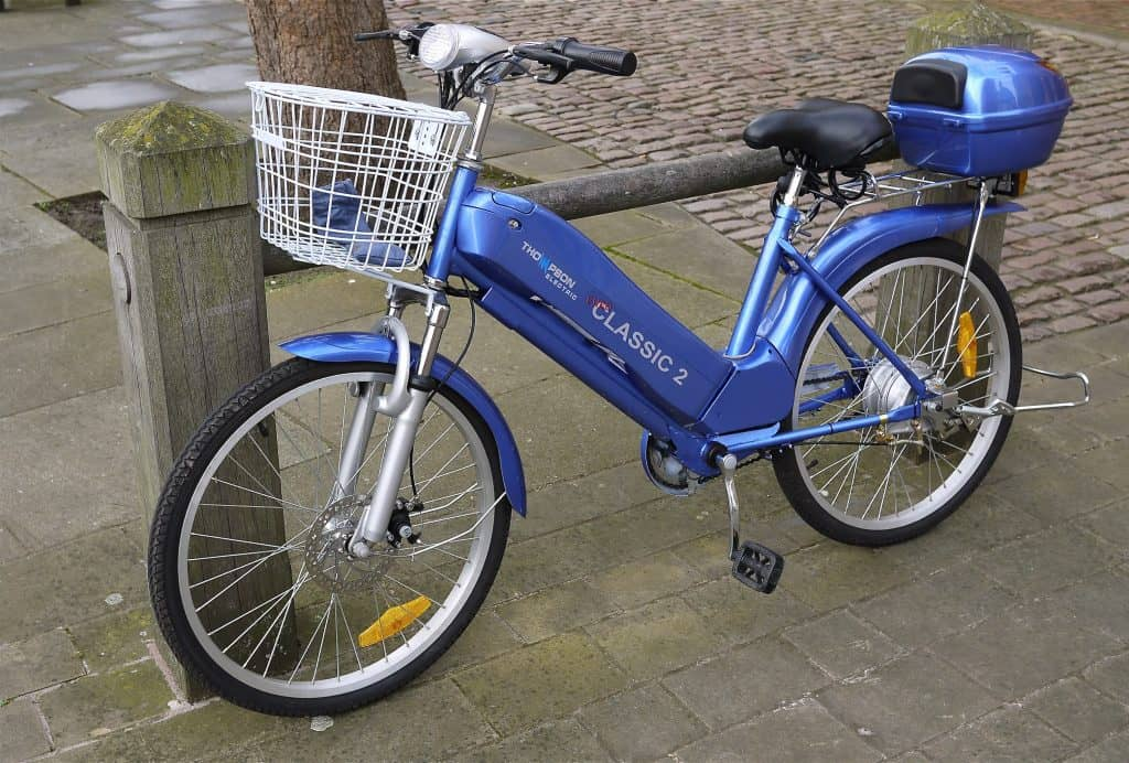 Easy E-Biking - parked city e-bike, helping to make electric biking practical and fun