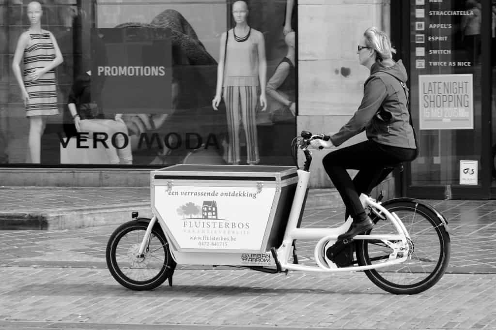 Easy E-Biking - woman riding cargo e-bike, helping to make electric biking practical and fun