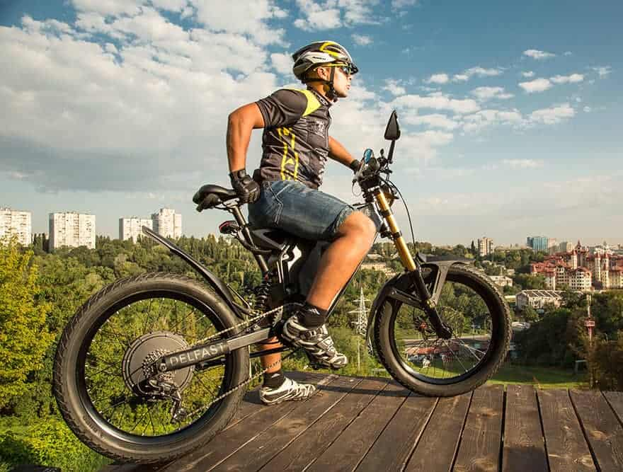 Easy E-Biking - man riding mountain e-bike, helping to make electric biking practical and fun