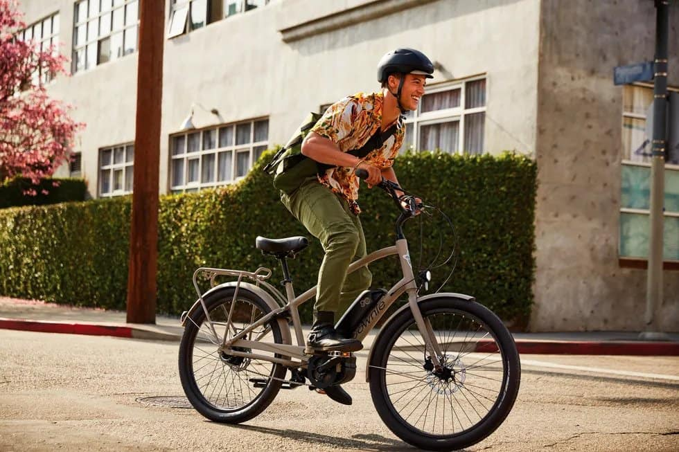 Easy E-Biking - man riding e-bike city, helping to make electric biking practical and fun