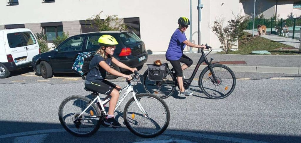 Easy E-Biking - senior woman riding e-bike, helping to make electric biking practical and fun