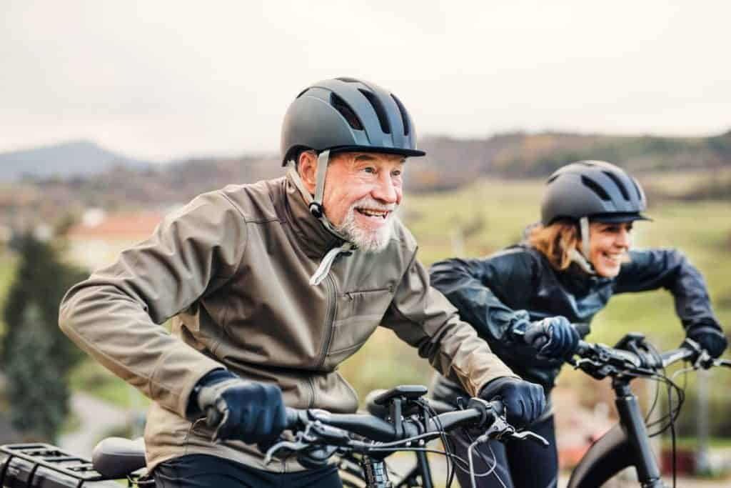 Easy E-Biking - senior couple e-bike, helping to make electric biking practical and fun