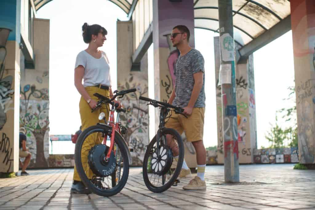 Easy E-Biking - Teebike e-bike front wheel, helping to make electric biking practical and fun