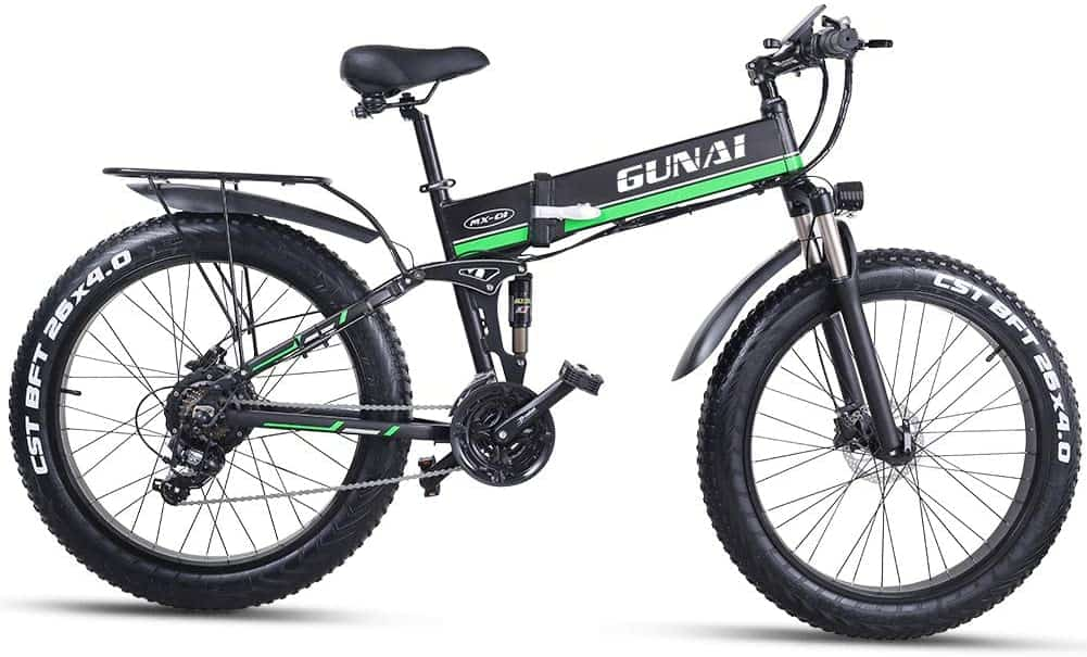 Easy E-Biking - Gunai folding fat tyre electric bike, helping to make electric biking practical and fun